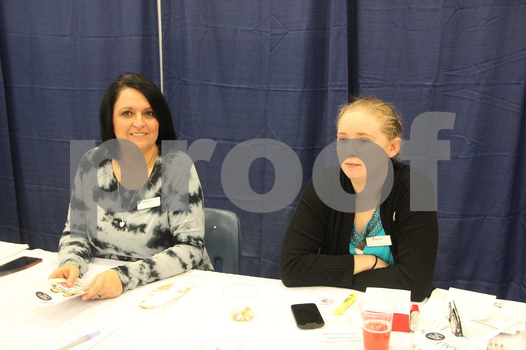 Sunday, October 16, 2016 Iowa Central Community College was the sight of the 2016 Messenger Bridal Show. The event took place in the Career Education Building on their Fort Dodge campus. Pictured (Left to right) is: Michelle Wendt and Ruth (last name not given), another vendor at the event.