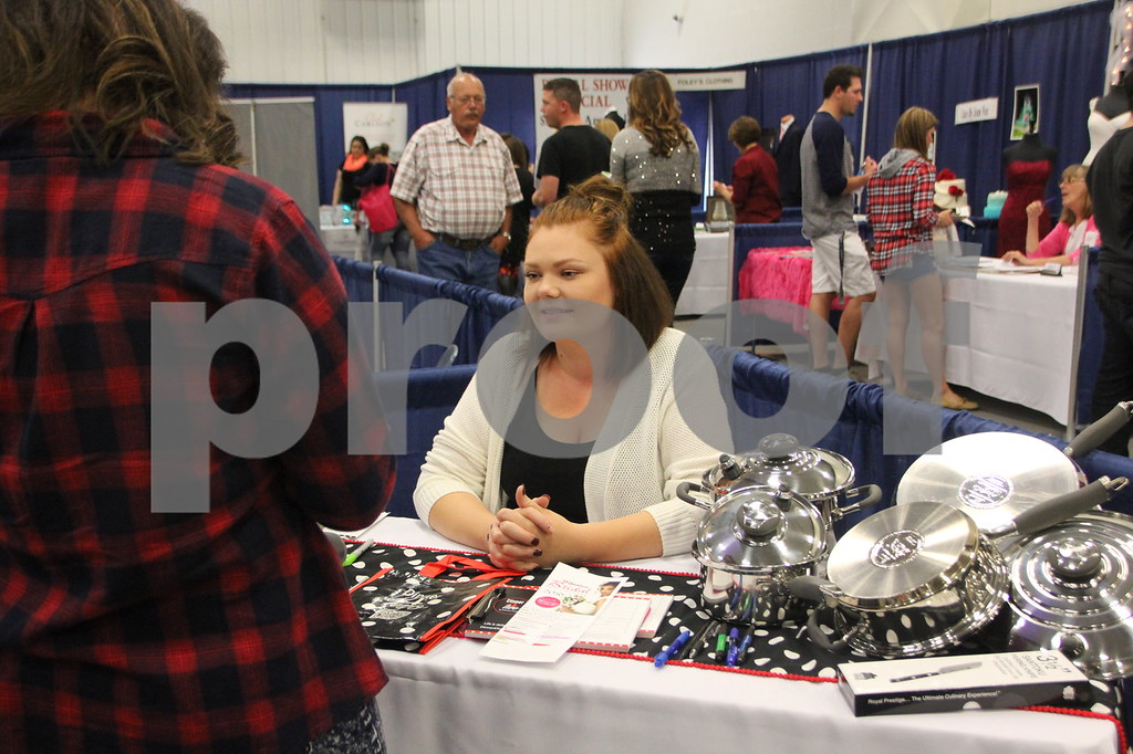 Sunday, October 16, 2016 Iowa Central Community College was the sight of the 2016 Messenger Bridal Show. The event took place in the Career Education Building on their Fort Dodge campus. Pictured here is: Azra Atajic, a vendor at the event.