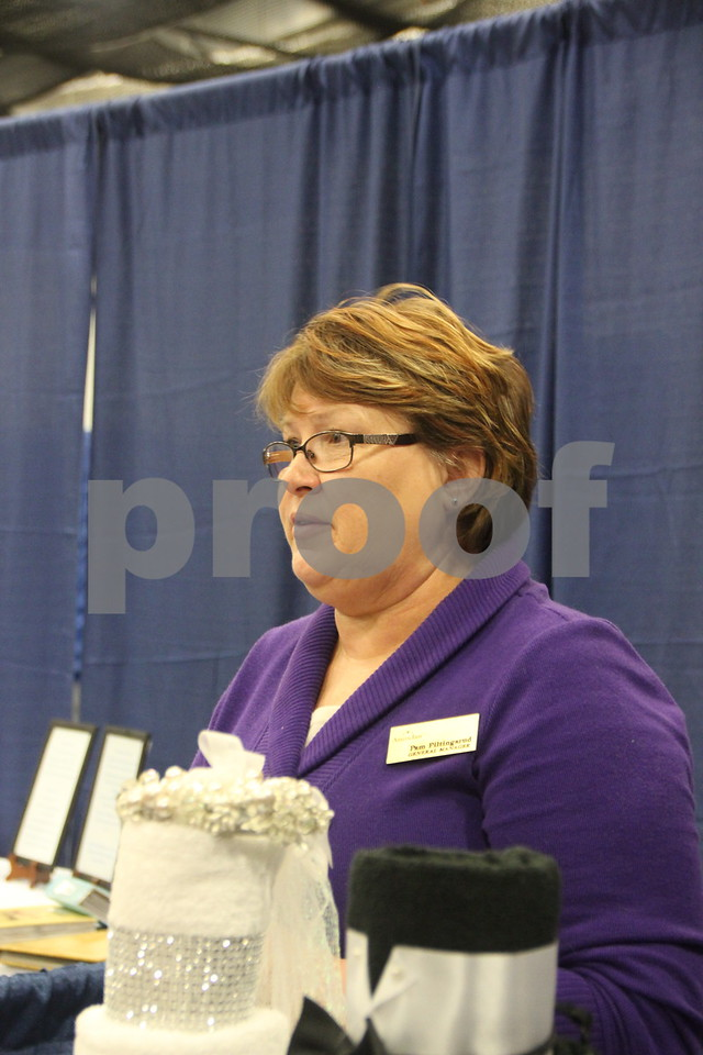 Sunday, October 16, 2016 Iowa Central Community College was the sight of the 2016 Messenger Bridal Show. The event took place in the Career Education Building on their Fort Dodge campus. Pam Piltingsrud, one of the many vendors at the event is pictured here.