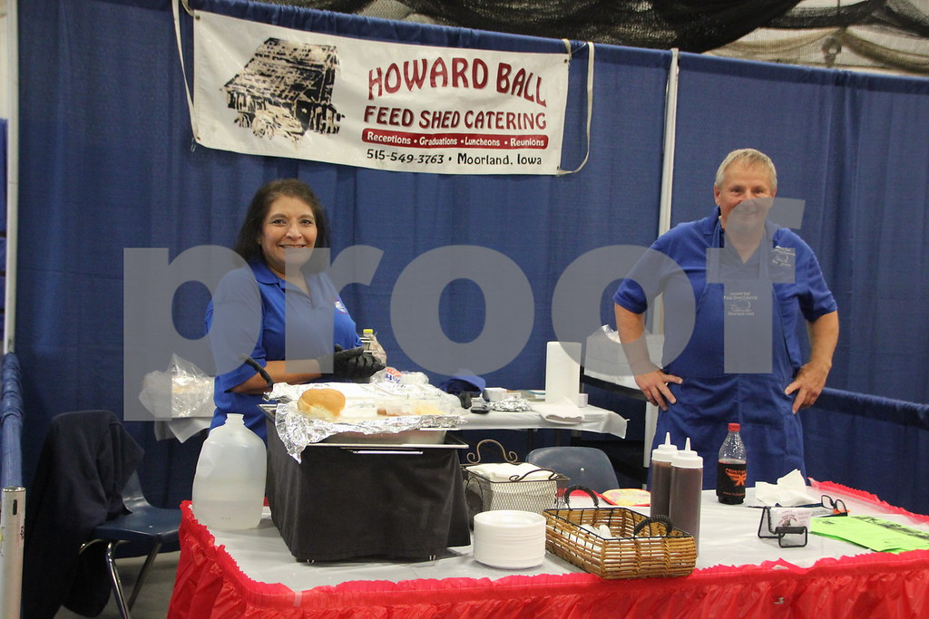 Sunday, October 16, 2016 Iowa Central Community College was the sight of the  2016 Messenger Bridal Show. The event took place in the Career Education Building on their Fort Dodge campus. One of many many vendors at the event is (from left to right) Karen and Howard Ball seen here.