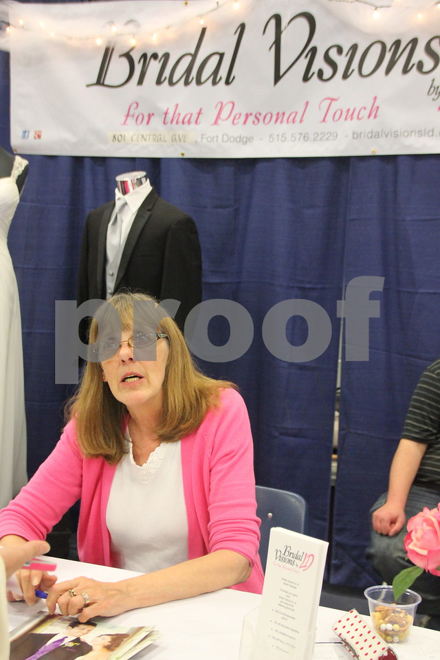 Sunday, October 16, 2016 Iowa Central Community College was the sight of the 2016 Messenger Bridal Show. The event took place in the Career Education Building on their Fort Dodge campus. Seen is: LaDonna High, another of several vendors at the event.