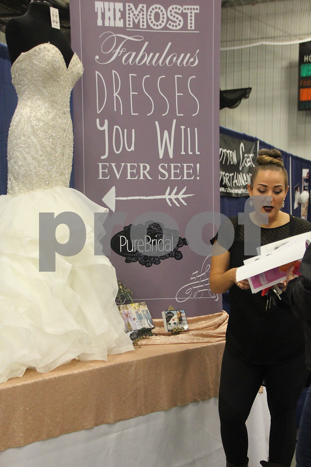 Sunday, October 16, 2016 Iowa Central Community College was the sight of the 2016 Messenger Bridal Show. The event took place in the Career Education Building on their Fort Dodge campus.  Kayse Schulz, one of the many vendors at the event is pictured here.