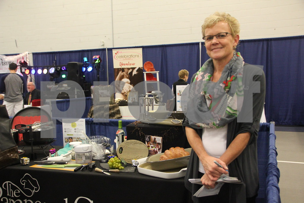 Sunday, October 16, 2016 Iowa Central Community College was the sight of the 2016 Messenger Bridal Show. The event took place in the Career Education Building on their Fort Dodge campus. Pictured here is: Lauri Beilke, a vendor at the event.
