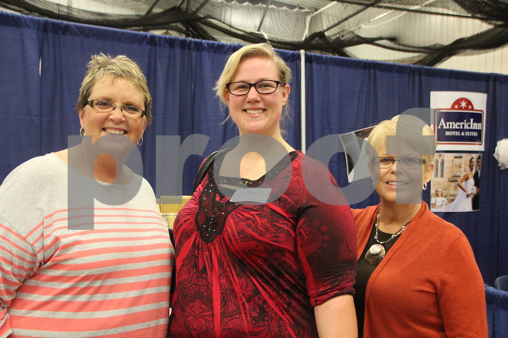 Sunday, October 16, 2016 Iowa Central Community College was the sight of the 2016 Messenger Bridal Show. The event took place in the Career Education Building on their Fort Dodge campus. Shown here (Left to right) is: Barb Vonsek, Magen  Royster, and Kathy Messerly.
