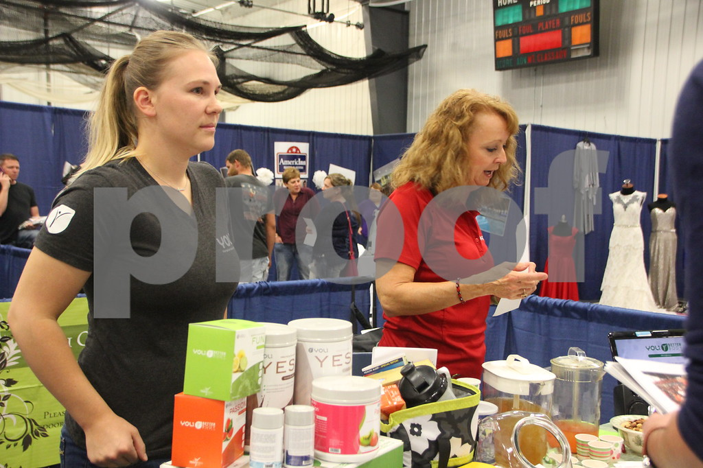 Sunday, October 16, 2016 Iowa Central Community College was the sight of the 2016 Messenger Bridal Show. The event took place in the Career Education Building on their Fort Dodge campus. Shown (left to right) is: Nicole and Pam Shelton, a vendor at the event.
