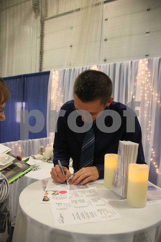 Sunday, October 16, 2016 Iowa Central Community College was the sight of the 2016 Messenger Bridal Show. The event took place in the Career Education Building on their Fort Dodge campus. Joshua Lennon, a vendor at the event is shown here.