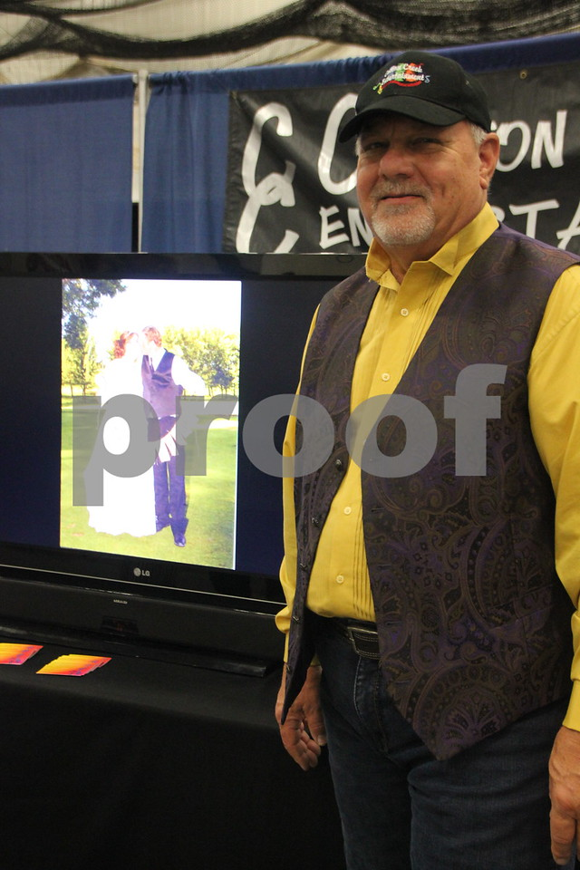 Sunday, October 16, 2016 Iowa Central Community College was the sight of the 2016 Messenger Bridal Show. The event took place in the Career Education Building on their Fort Dodge campus. Larry Schulz, one of the many vendors at the event is pictured here.