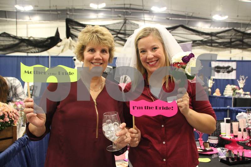 Sunday, October 16, 2016 Iowa Central Community College was the sight of the 2016 Messenger Bridal Show. The event took place in the Career Education Building on their Fort Dodge campus. Shown here (Left to right) is: Kim Gordon and Kirby Gordon, who attended the event.