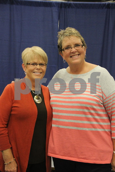 Sunday, October 16, 2016 Iowa Central Community College was the sight of the 2016 Messenger Bridal Show. The event took place in the Career Education Building on their Fort Dodge campus. Kathy Messerly (left) and Barb Vonsek (right), one of the many vendors at the event is pictured here.