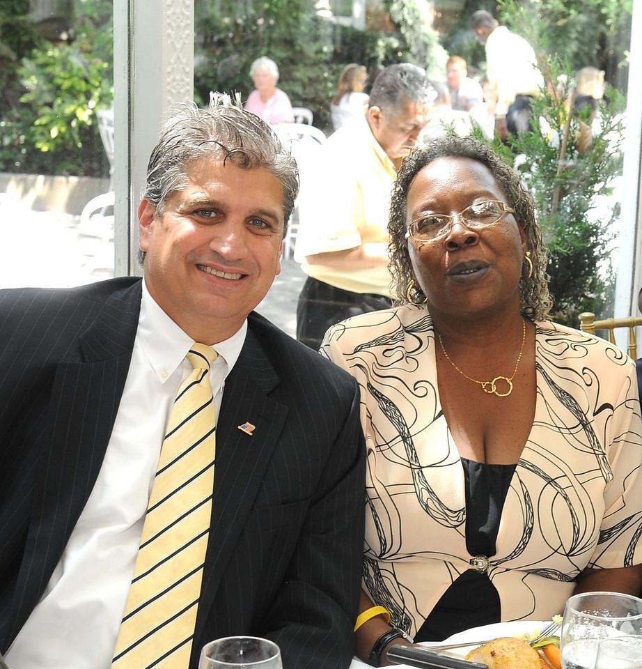 Councilman Dominic Recchia and Jackie Ebron
