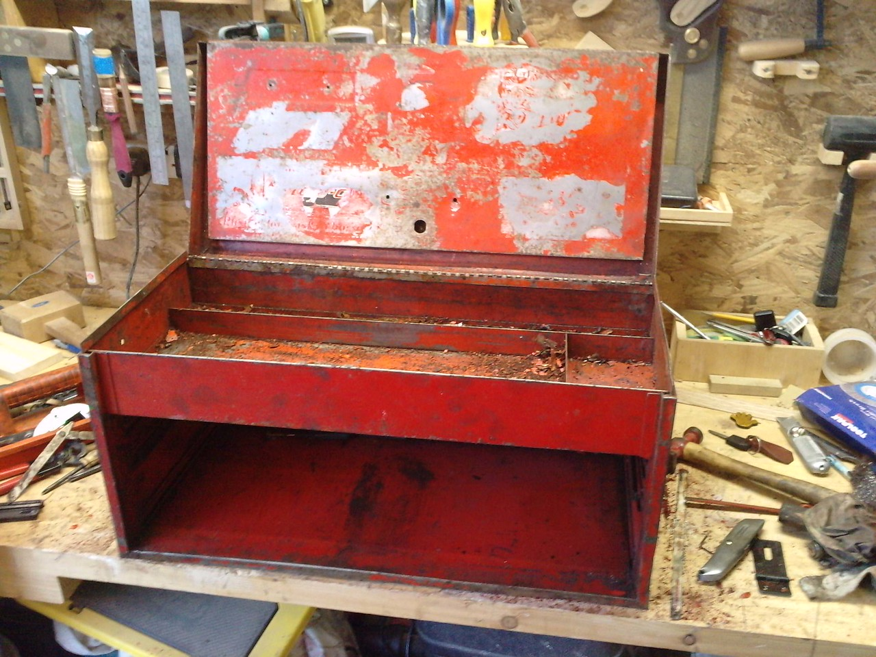 Snapon Toolbox with drawers removed. Locks have also been removed