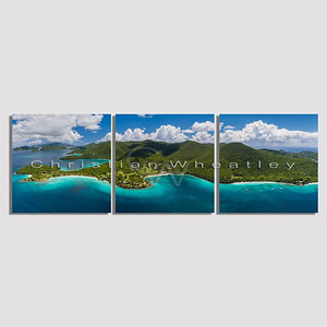 STJ 314 Caneel Bay, St. John, US Virgin Islands triptych
