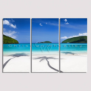 STJ 052 Maho Bay, St. John, US Virgin Islands triptych