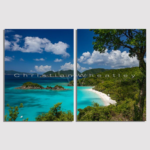 STJ 125 Trunk Bay, St. John, US Virgin Islands diptych