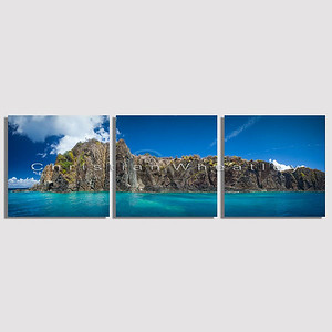 E035 Grass Cay, US Virgin Islands triptych