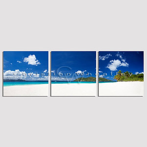 Sandy Cay, British Virgin Islands triptych