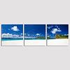 Sandy Cay, British Virgin Islands triptych