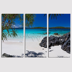 STJ 134 Turtle Bay, St. John, US Virgin Islands triptych
