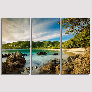 E014 Francis Bay, St. John, US Virgin Islands triptych