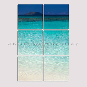 Trunk Bay, St. John, US Virgin Islands hexaptych