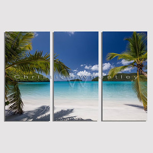 STJ 135 Maho Bay, St. John, US Virgin Islands triptych