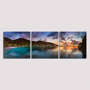 E037 Maho Bay, St. John, US Virgin Islands triptych