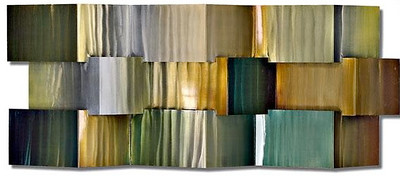 Emerald Ruche-Raboin, 84x34x6 25 painting on metal