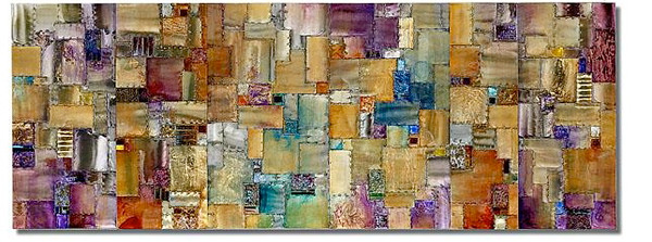 Madras-Raboin, 78x28x3, painting with mixed media on metal