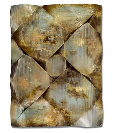 Soft Patina-D  Smith, 47x62 5x4 painting with mixed media on metal