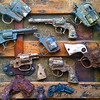 Just a few of the many toy guns I find metal detecting.  A lot of sad little boys.