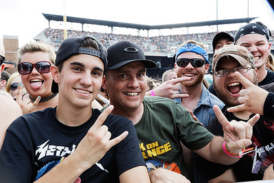 Metallica,  live at Comerica Park in Detroit, Michigan on 7-12-2017., Ken Settle, Photo Credit: Ken Settle