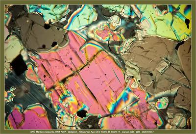 Meteorite thin slice