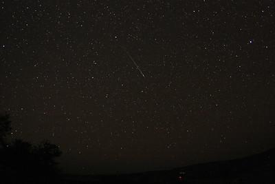 Bright meteor around midnight on the night of August 4-5, 2011.