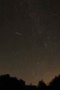 Perseid maximum night   Meteor shower
