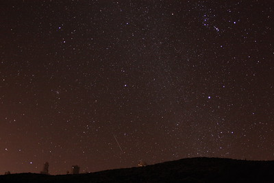 Geminid meteor above the Teide Observatory