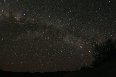 A Capricornide fireball in the milky way that was also seen visually.