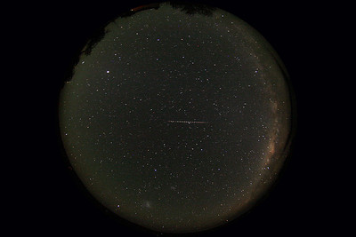The same Capricornide meteor captured by the All-Sky camera.