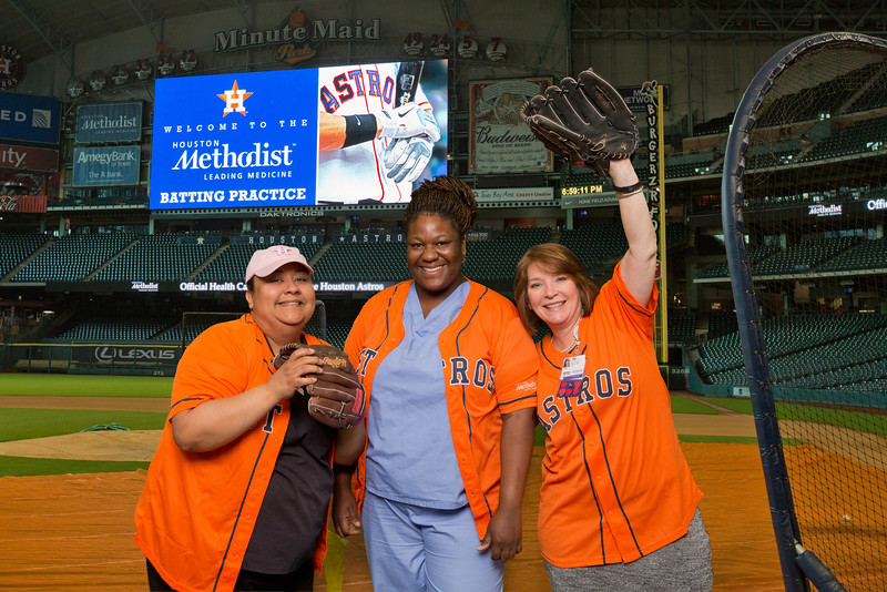 Houston Methodist Willowbrook Hospital Employee Baseball opening day party 6 April 2015.