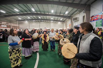 The community gathered to participate in a smudging ceremony and prayer circle for Cooper Nemeth at Gateway Recreational Centre Monday February 22, 2016.  (David Lipnowski for Metro News)