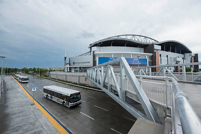 The opening of Stadium Station, the first piece of the Southwest Transitway Stage 2 seen Tuesday July 4, 2017. (David Lipnowski for Metro News)