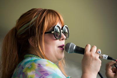 Begonia performs during a workshop she hosted at the Green Ash stage during Folk Fest at Birds Hill Park Sunday July 9, 2017. (David Lipnowski for Metro News)