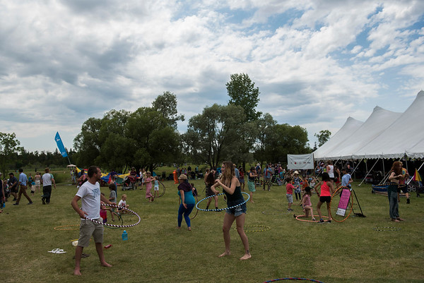 Hula Hoop action during Folk Fest at Birds Hill Park Sunday July 9, 2017. (David Lipnowski for Metro News)