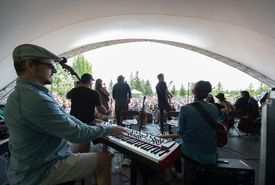Local artists perform during a workshop hosted by Begonia at the Green Ash stage during Folk Fest at Birds Hill Park Sunday July 9, 2017. (David Lipnowski for Metro News)