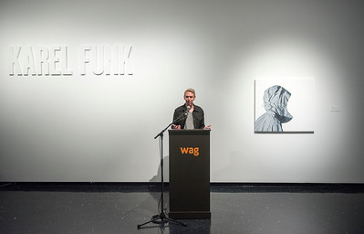 Artist Karel Funk speaks during a press conference at the Winnipeg Art Gallery Thursday June 9, 2016 to announce the opening of a gallery of his work. (David Lipnowski for Metro News)