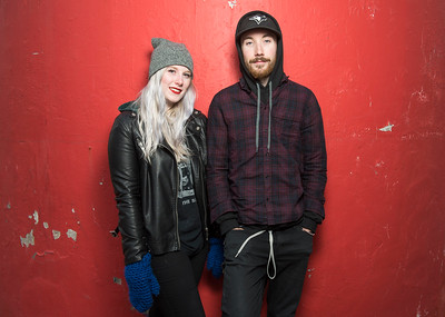 Karli and Sean Quigley of the band Bold As Lions pose for a photo at The Forks Monday November 21, 2016. (David Lipnowski for Metro News)