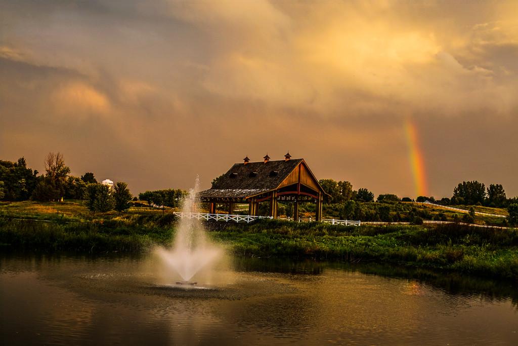 Chevalle Bridge with Rainbow fountain #1