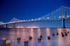 """Bay Lights"" on the Bay Bridge West Span"