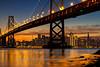 Holiday Light Sunset Beside Bay Bridge