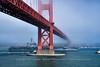 USS Carl Vinson under the Foggy Bridge
