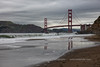 Baker Beach Golden Gate Reflection before the Rain - Color